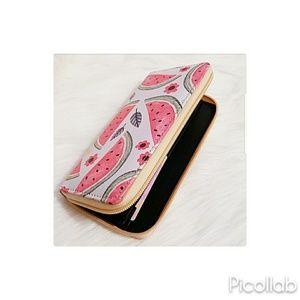 Bags - Watermelon Print Zipper Wallet